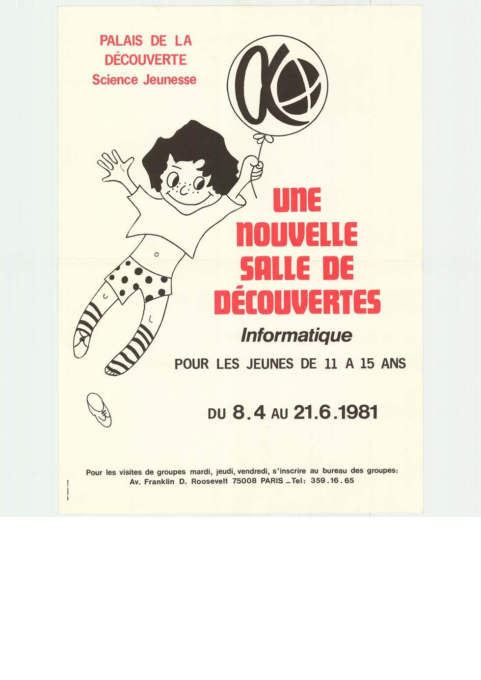 1981: Une nouvelle salle de découvertes - informatique (ouverture du diaporama)