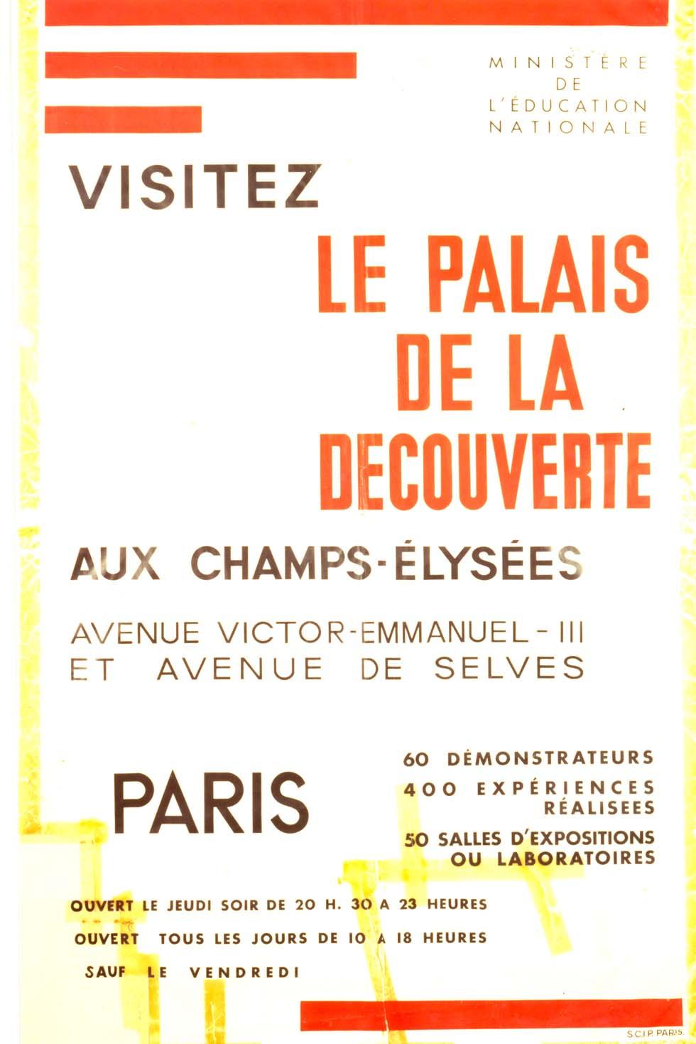 1938 : Le Palais de la découverte(ouverture du diaporama)