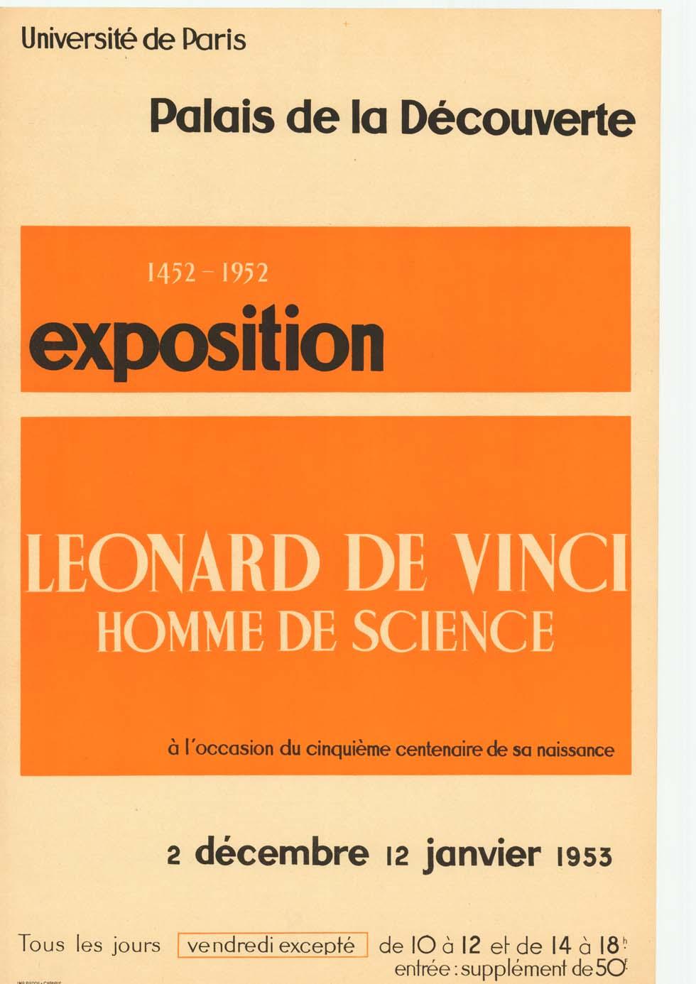 1953 : Léonard de Vinci - Homme de science(ouverture du diaporama)