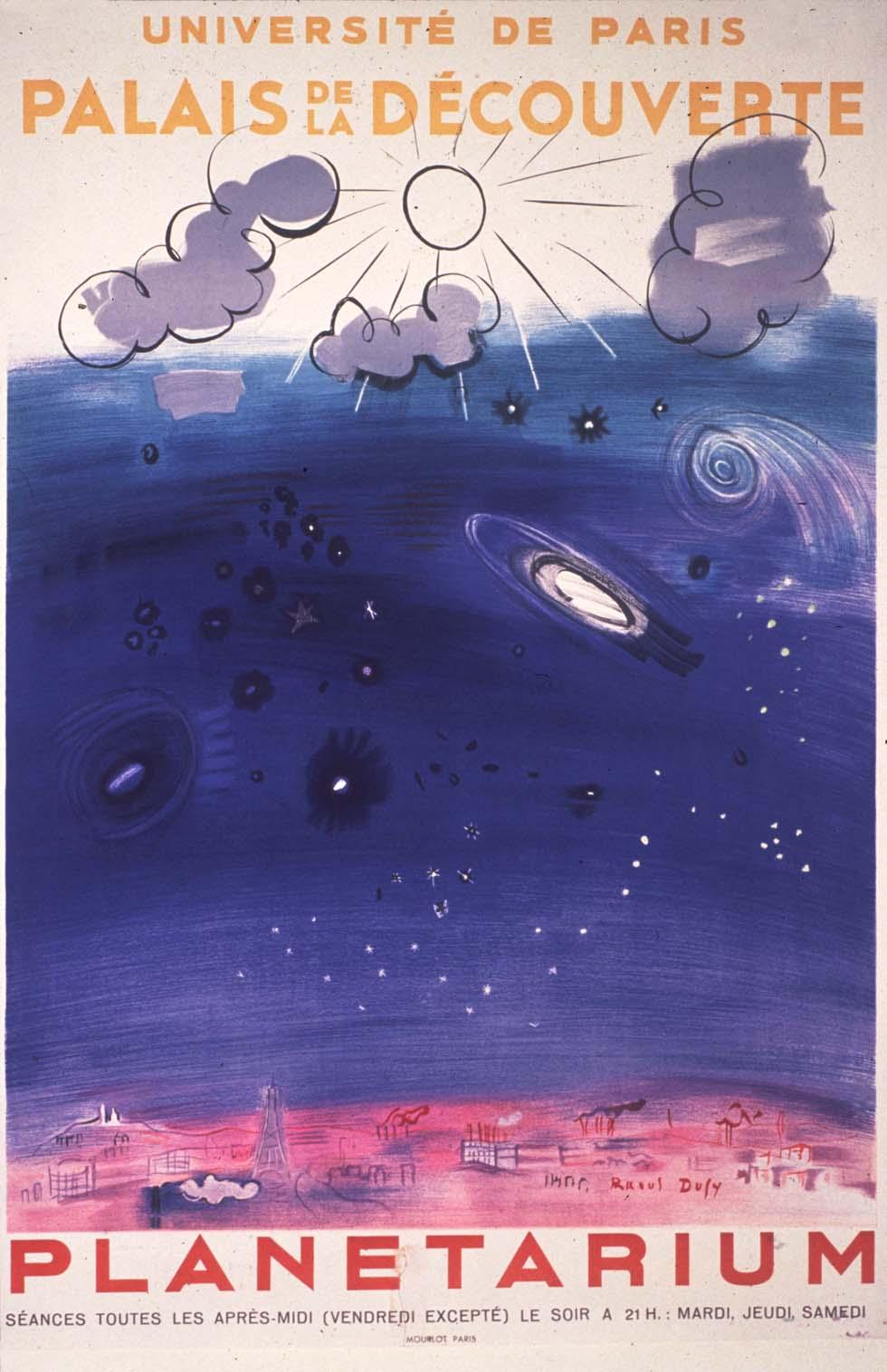 1952 : Affiche inaugurale du planétarium(ouverture du diaporama)