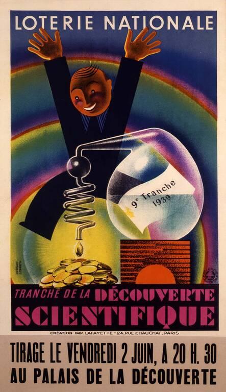 1939 : Loterie nationale - tranche de la découverte scientifique(ouverture du diaporama)