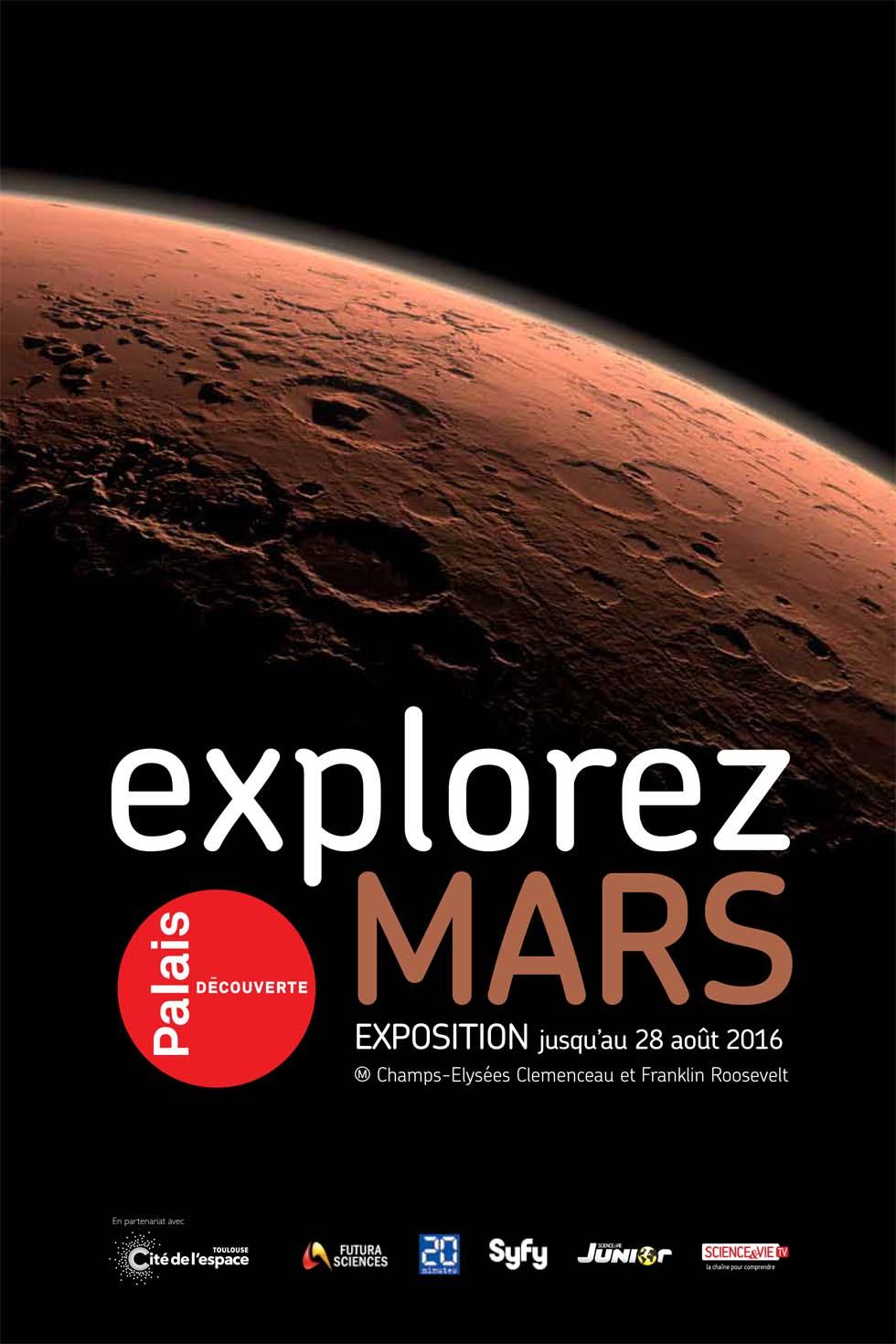 2016 : Explorez Mars(ouverture du diaporama)