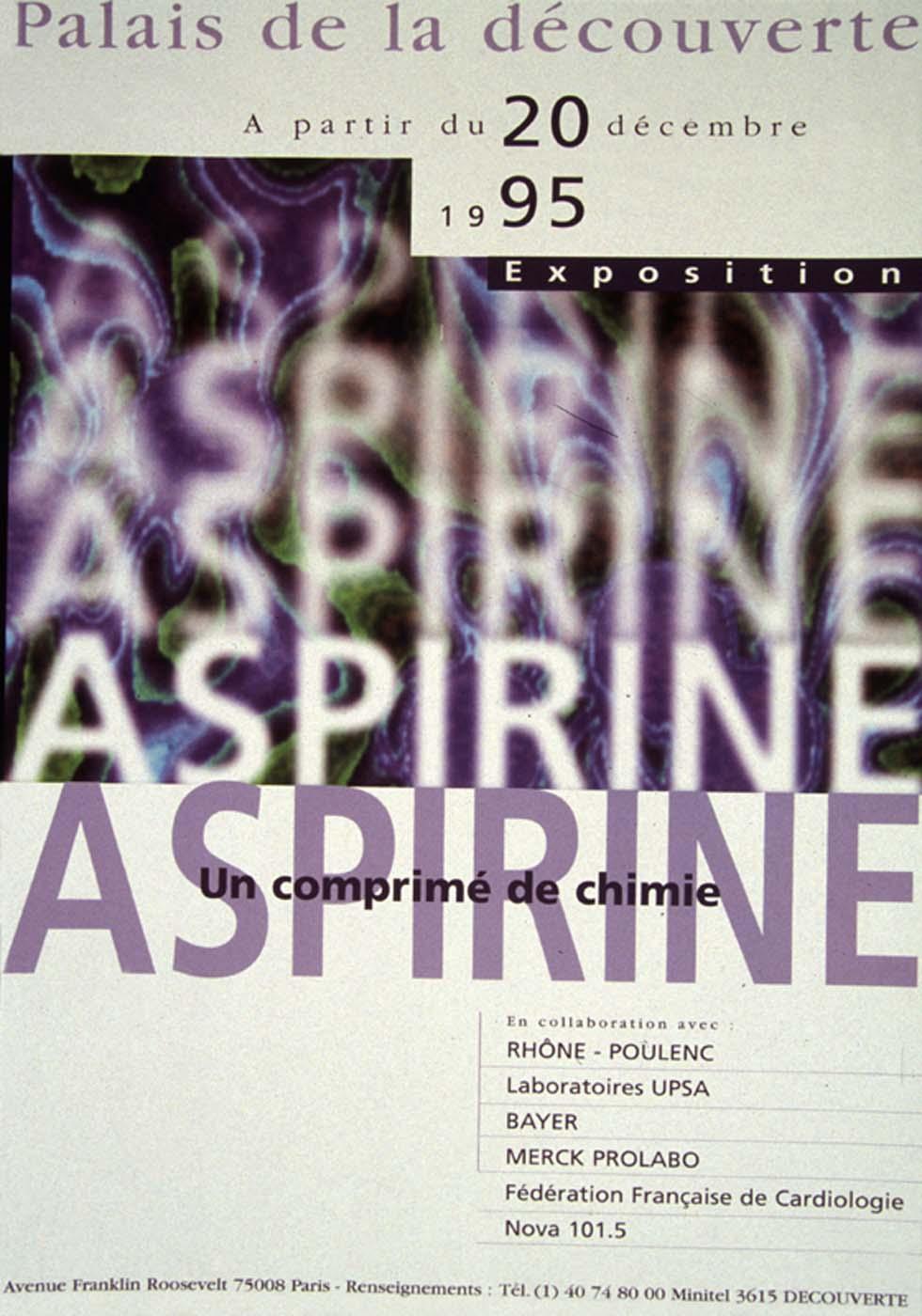 1995 : Aspirine, un comprimé de chimie(ouverture du diaporama)