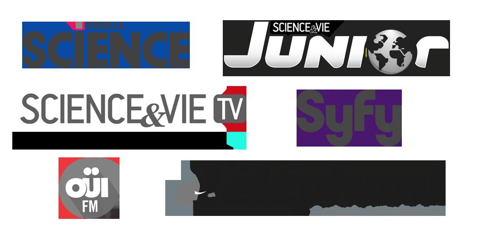 Pour la science, Science et vie Junior, Science et vie, Syfy, OuiFM, l'éléphant
