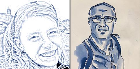 Portraits Sophie Neuville et Yann Lefranc